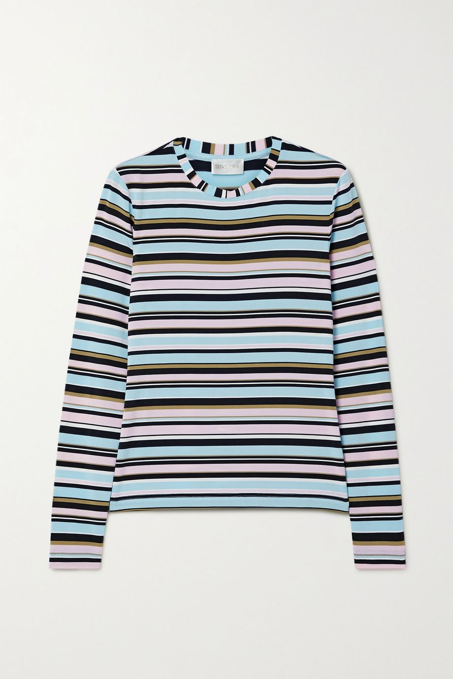 Stine Goya Maya striped stretch-jersey top