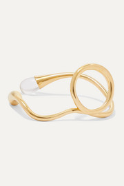 Eila gold-plated quartz ring