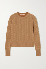 + NET SUSTAIN Nora cable-knit cashmere sweater