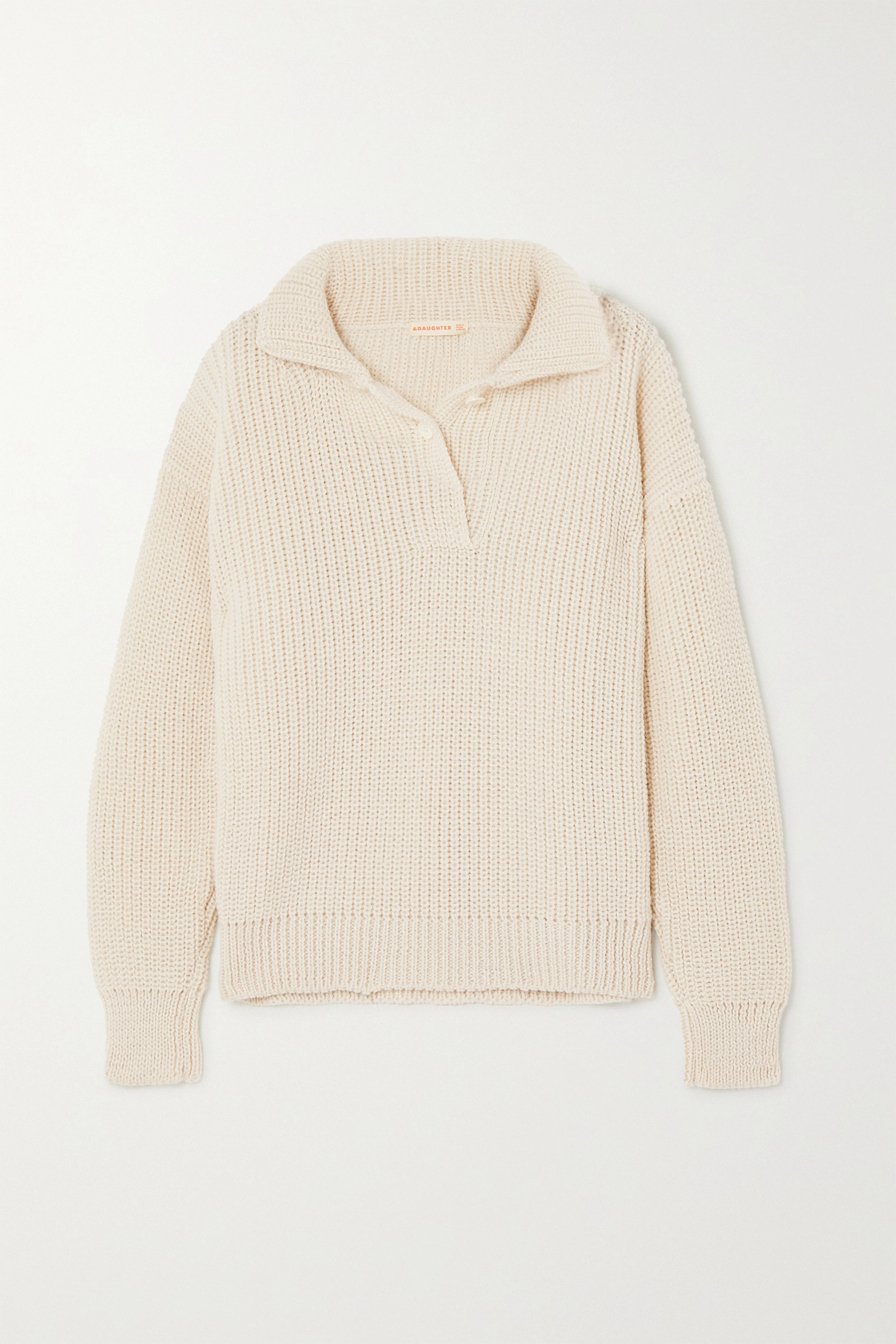 &Daughter Effie ribbed merino wool sweater