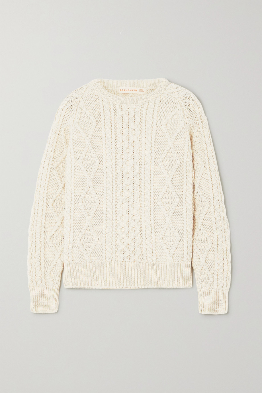 &Daughter Doris cable-knit wool sweater