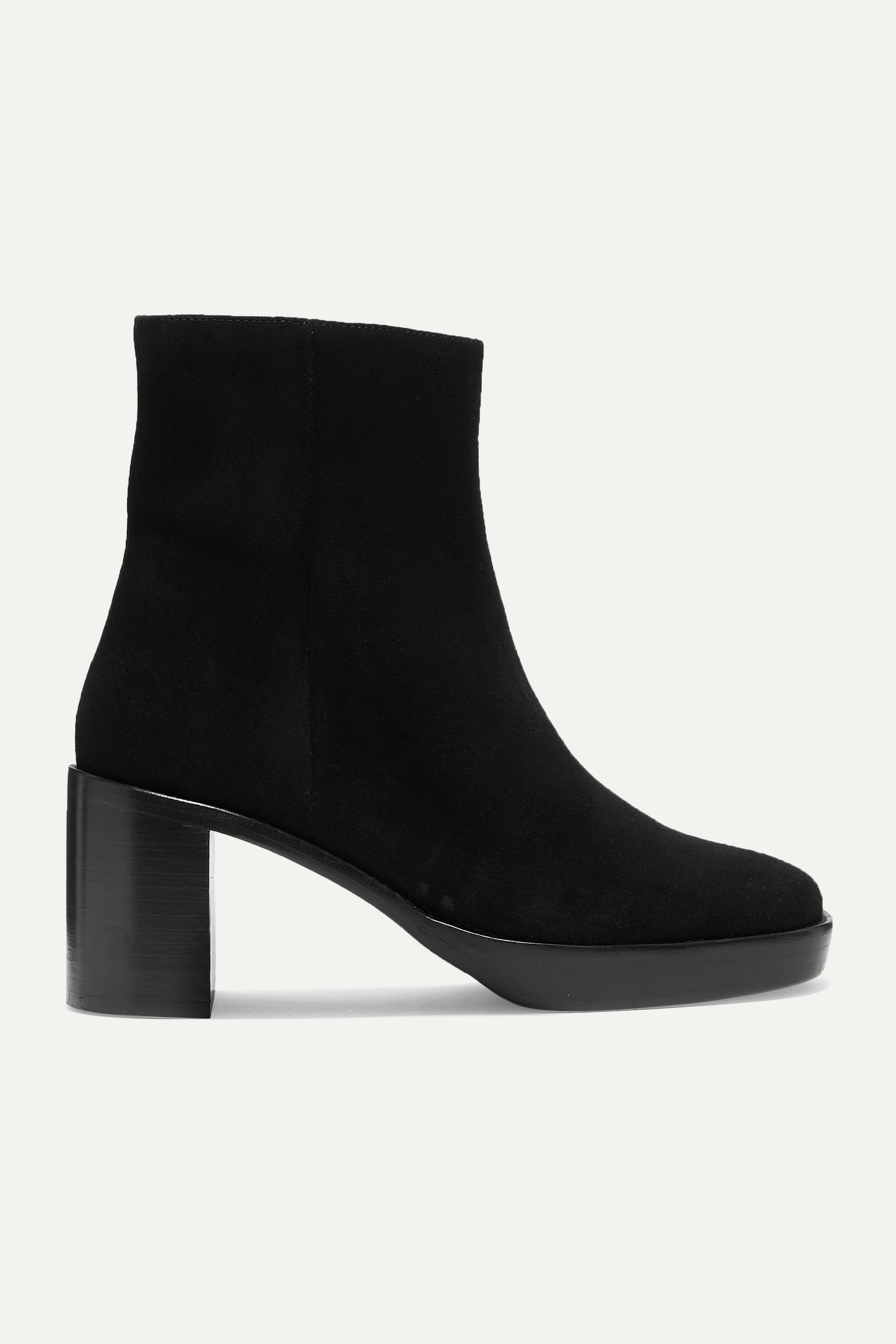 BY FAR Ellen suede ankle boots