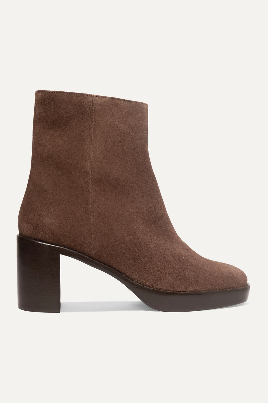 BY FAR Ellen suede platform ankle boots