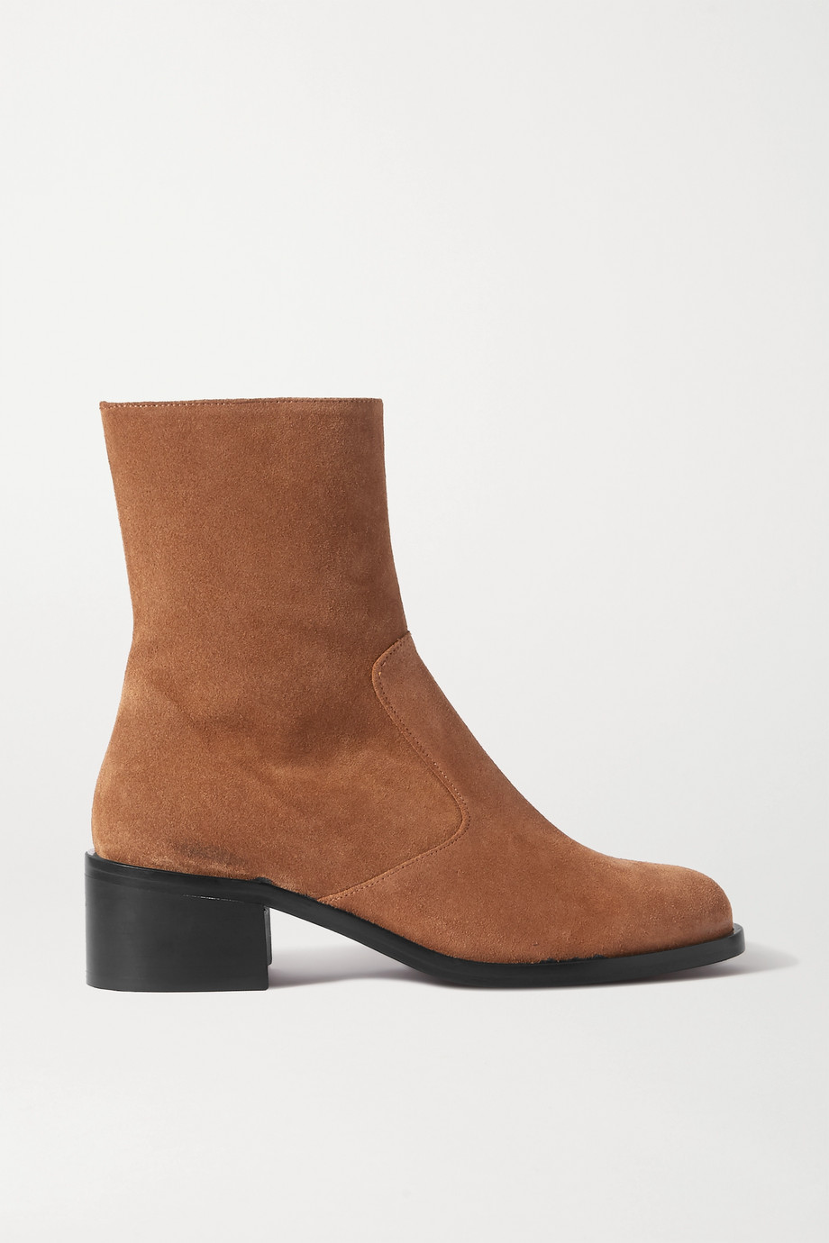 BY FAR Lara suede ankle boots