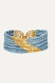Mitu gold-plated and ceramic beaded bracelet