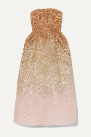 Ong-Oaj Pairam Ofelia sequined silk-organza midi dress