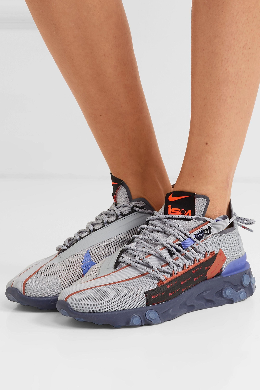 Exquisito banjo Fruncir el ceño  Light gray React Runner WR ISPA mesh sneakers | Nike | NET-A-PORTER