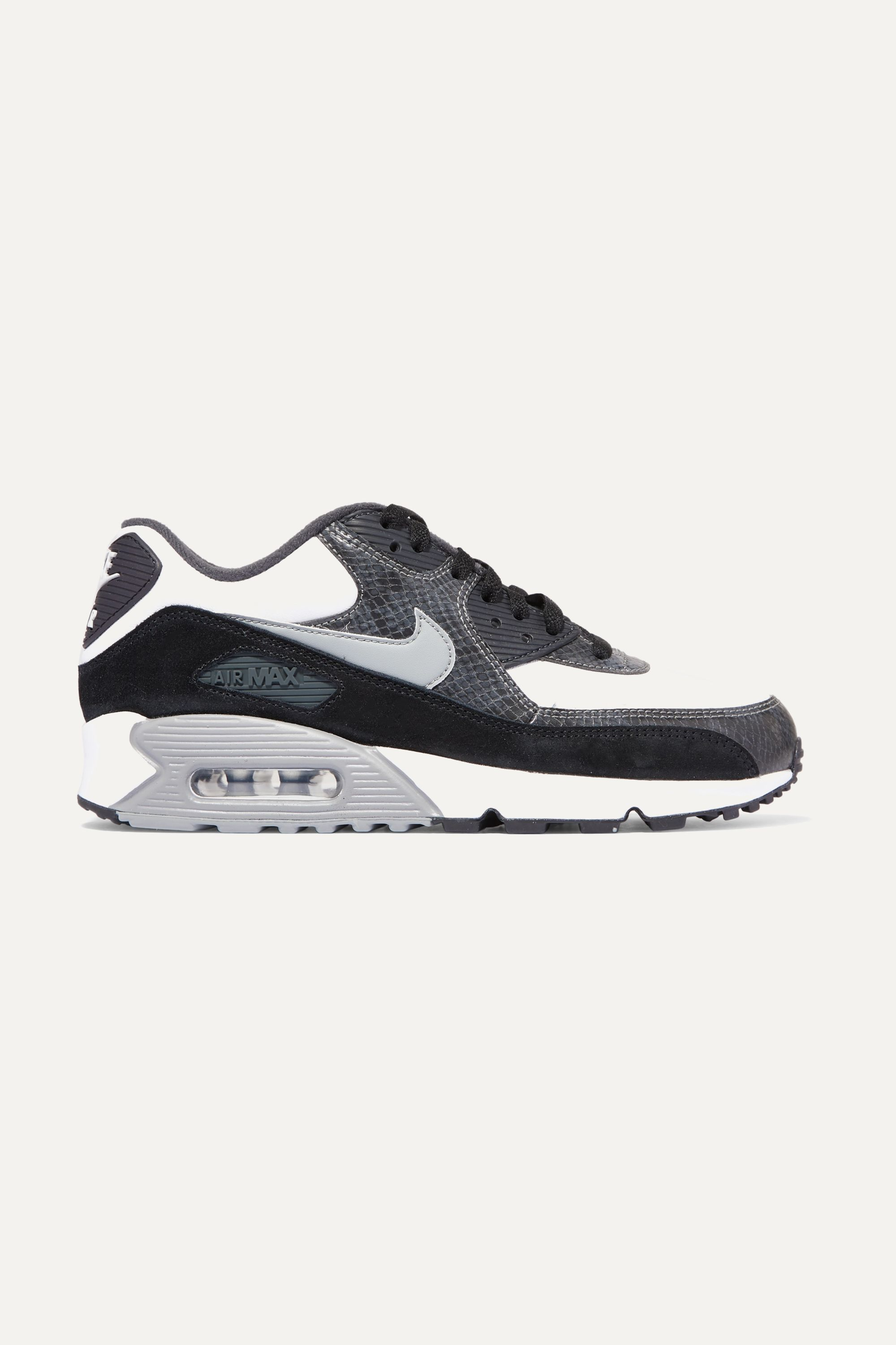Nike Air Max 90 QS snake-effect leather and suede sneakers