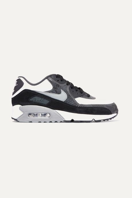 Dark gray Air Max 90 QS snake-effect leather and suede sneakers | Nike Nn3acQ