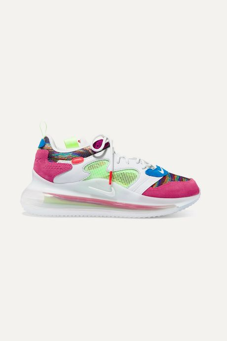 Pink Air Max 720 OBJ mesh, suede and leather sneakers | Nike MKTHVo