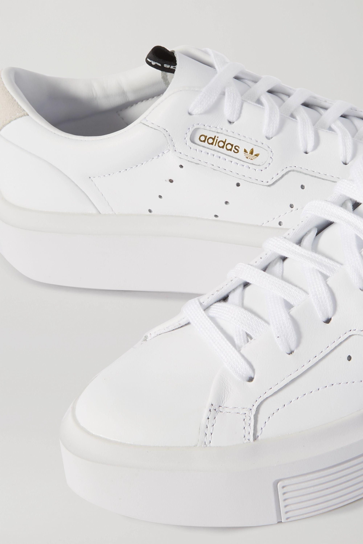 adidas Originals Sleek Super Sneakers aus Leder mit Velourslederbesatz