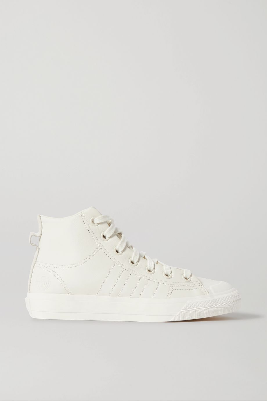adidas Originals Nizza HI RF suede-trimmed leather high-top sneakers