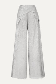 Argott silk-blend Lurex wide-leg pants