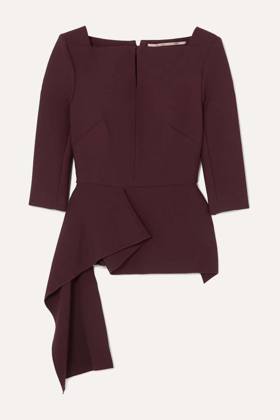 Roland Mouret Heron asymmetric crepe blouse