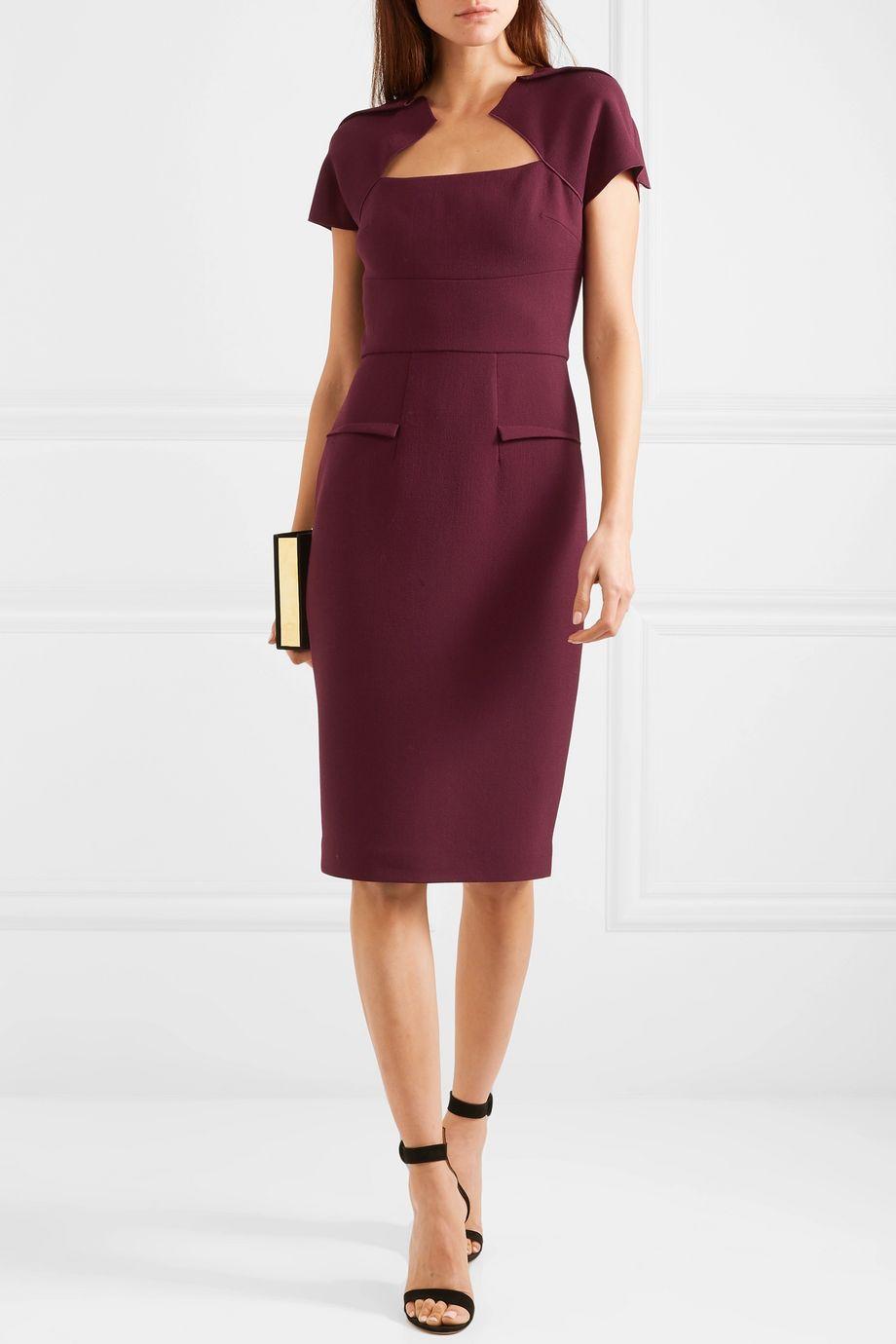 Roland Mouret Wool-crepe dress