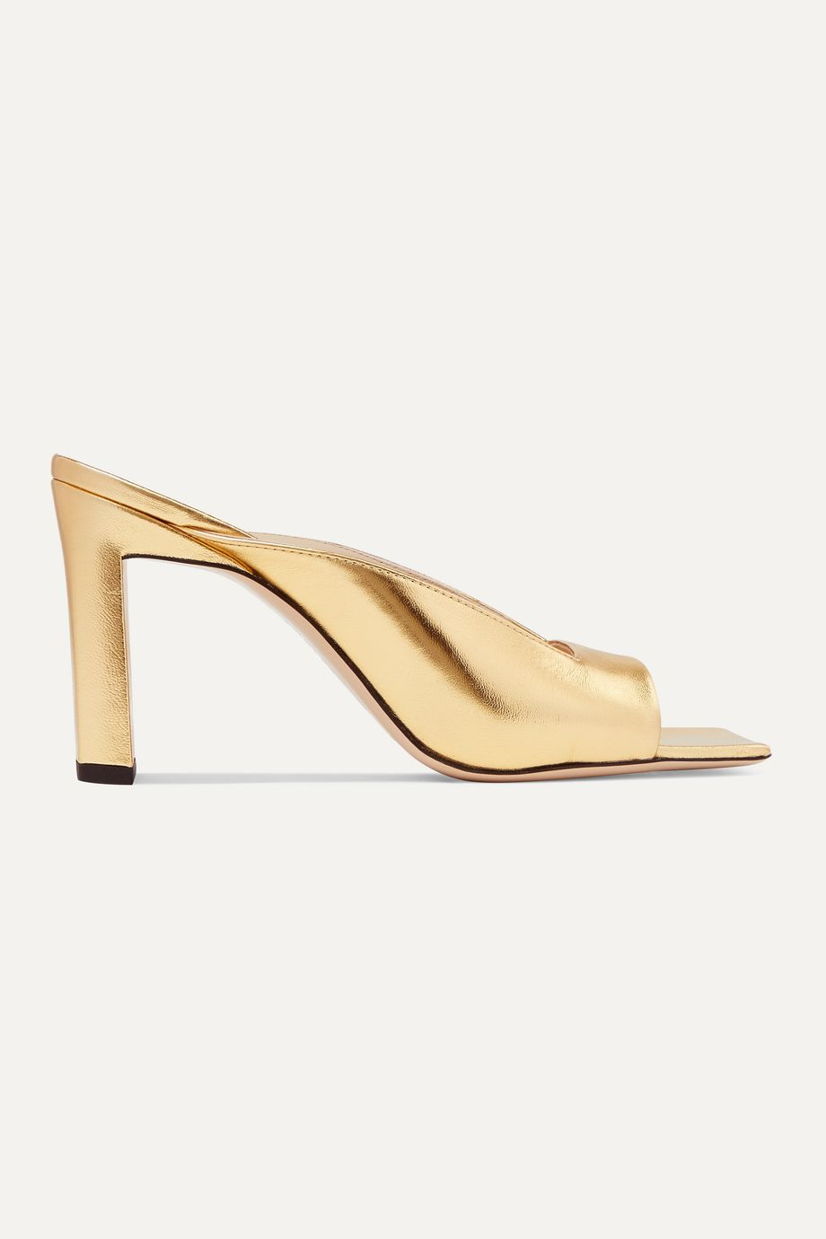 Wandler Isa metallic leather mules
