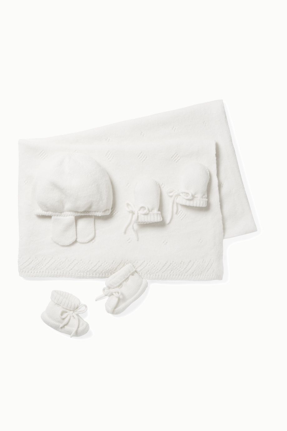 Johnstons of Elgin Kids Infant cashmere booties, hat, mittens and blanket set