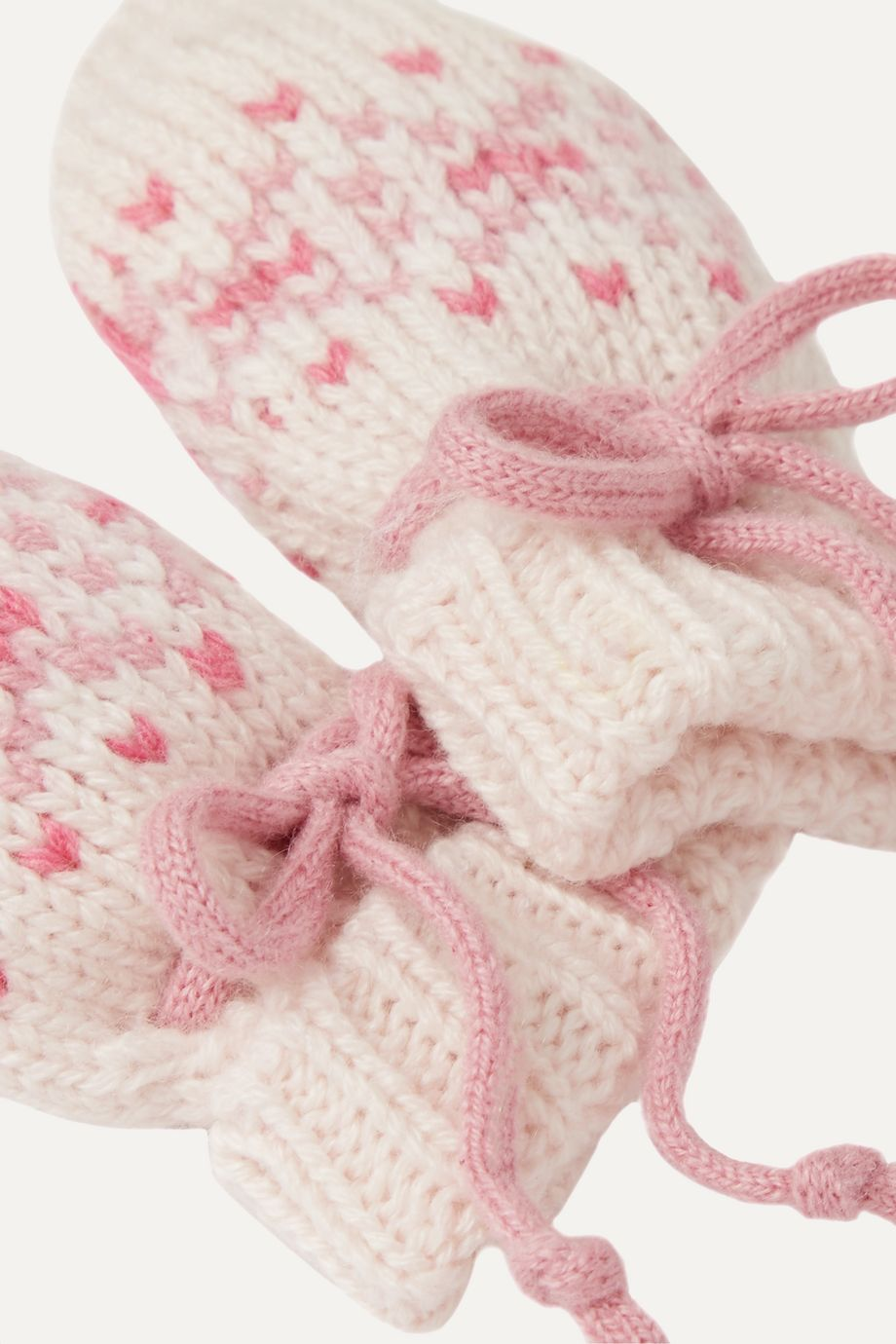 Johnstons of Elgin Kids Infant Fair Isle cashmere booties, hat and mittens set