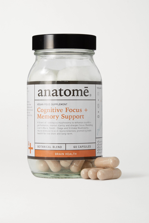 anatomē Vegan Food Supplement - Cognitive Focus + Energy (60 capsules)
