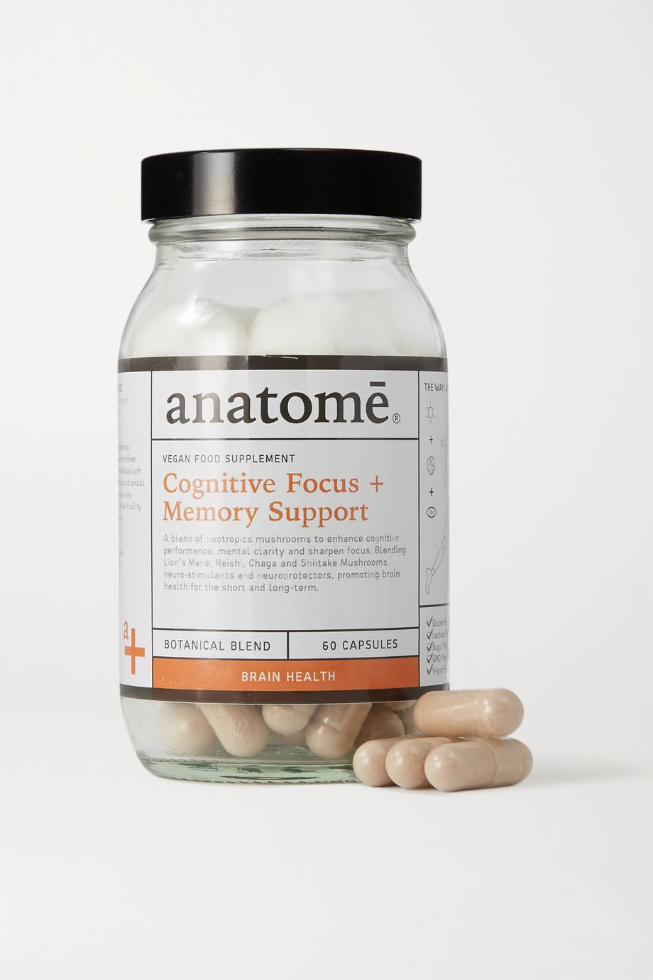 anatomē Vegan Food Supplement - Cognitive Focus + Energy (60 capsules)