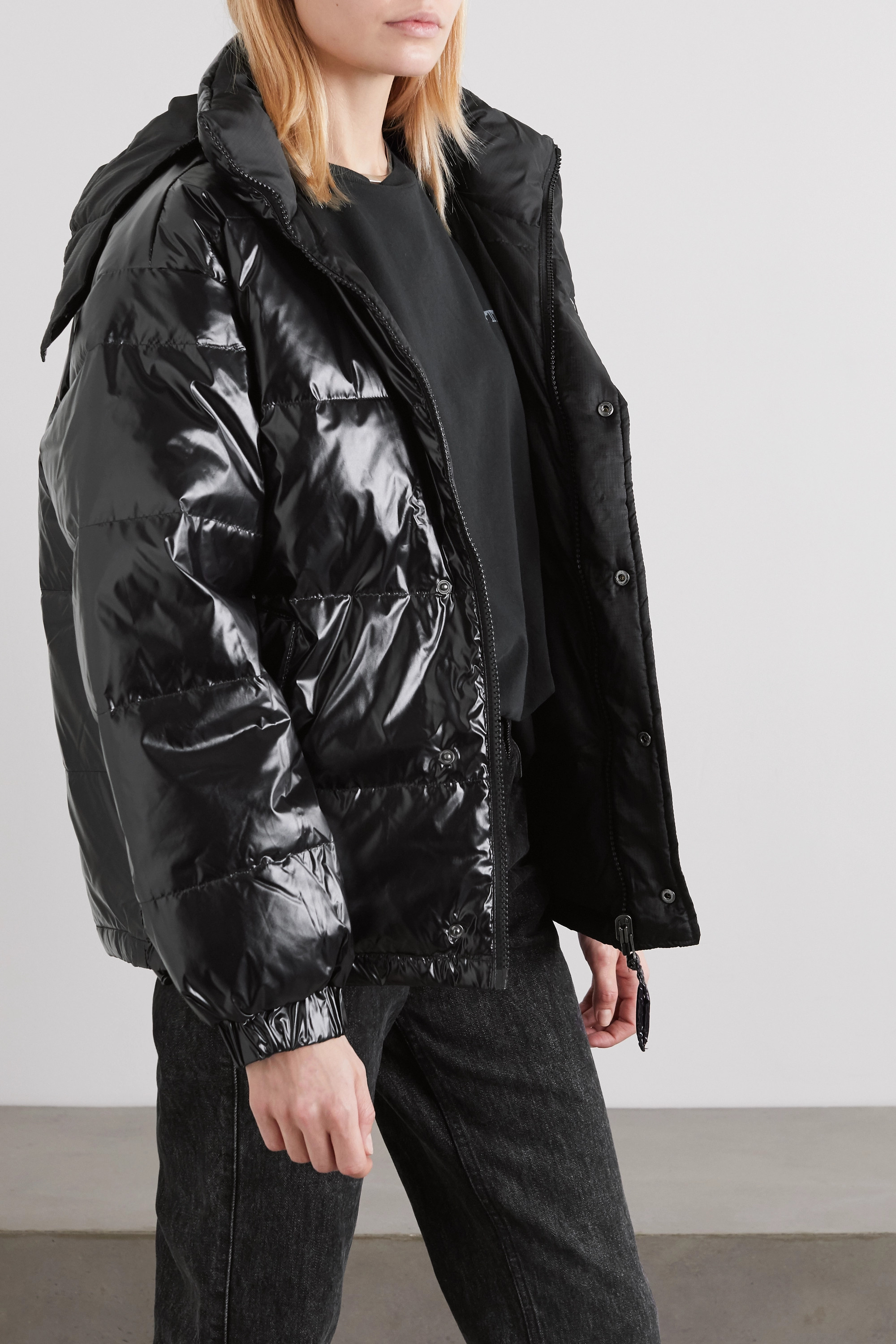 Ksubi Flashback reversible quilted glossed-shell down jacket