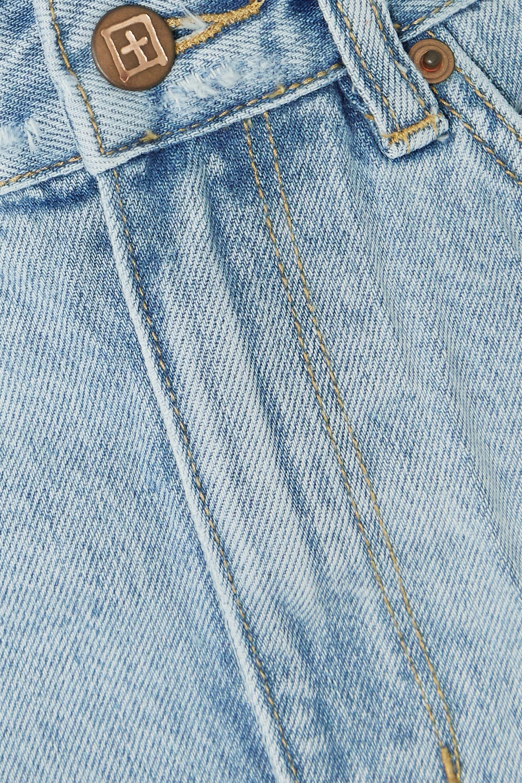 Ksubi Rise N Hi Jeansshorts in Distressed-Optik