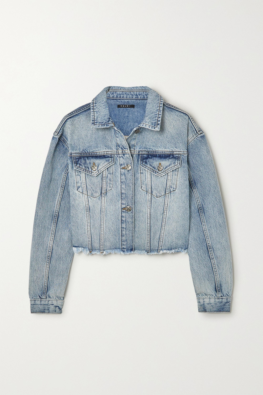 Ksubi Daggerz cropped distressed denim jacket