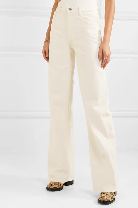 + Elsa Hosk Monday high-rise wide-leg jeans
