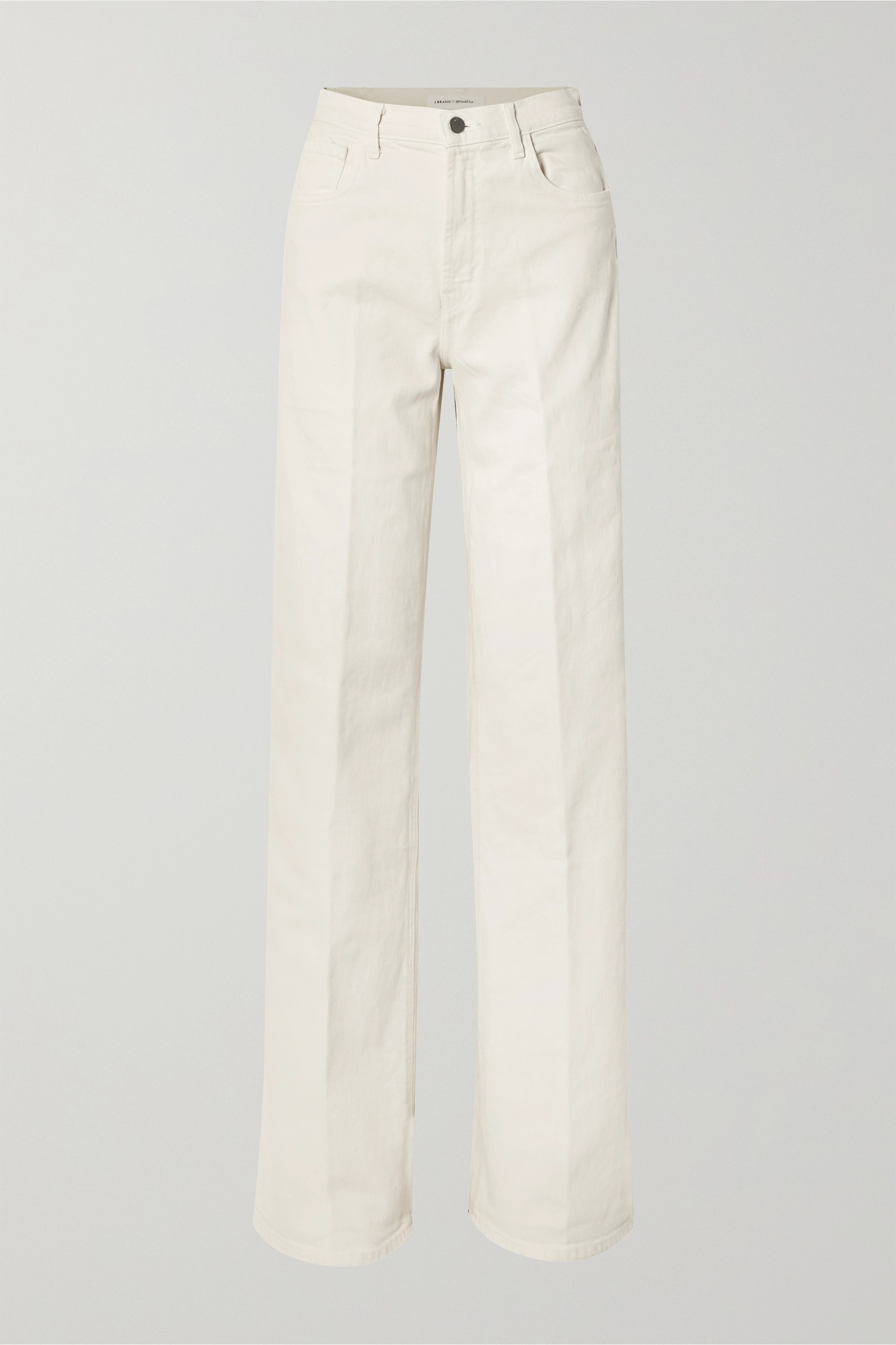 J Brand + Elsa Hosk Monday high-rise wide-leg jeans