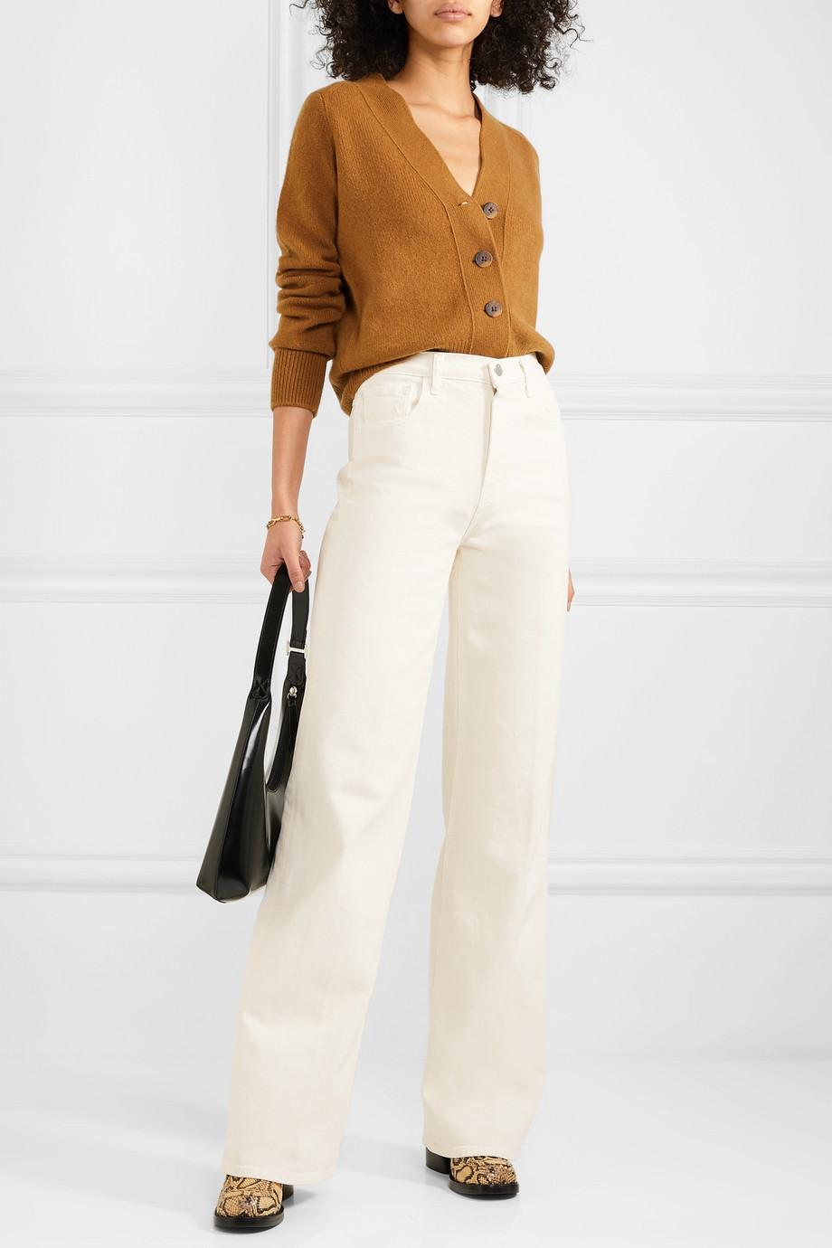 J Brand + Elsa Hosk Monday high-rise wide-leg jeans
