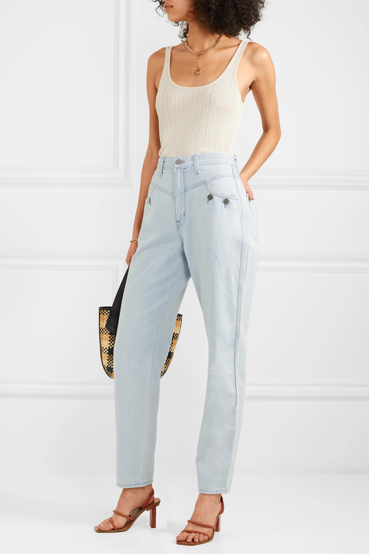 J Brand + Elsa Hosk Playday high-rise straight-leg jeans
