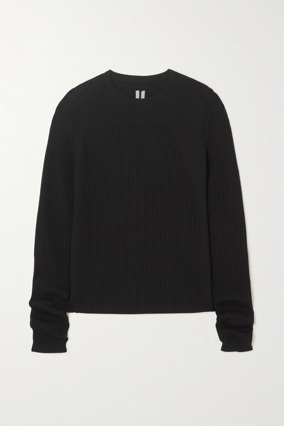 Rick Owens Maglia ribbed wool sweater