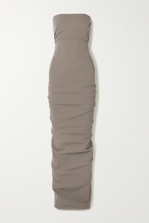 Rick Owens Strapless stretch cotton-blend crepe maxi dress