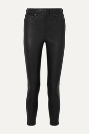 rag & bone Nina cropped leather skinny pants