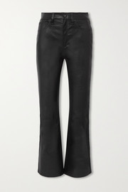 rag & bone Hana cropped straight-leg leather pants