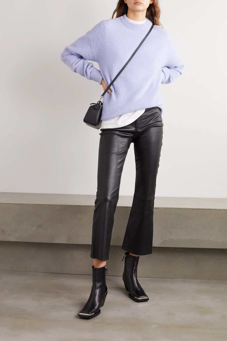 rag & bone Hana cropped straight-leg leather pants