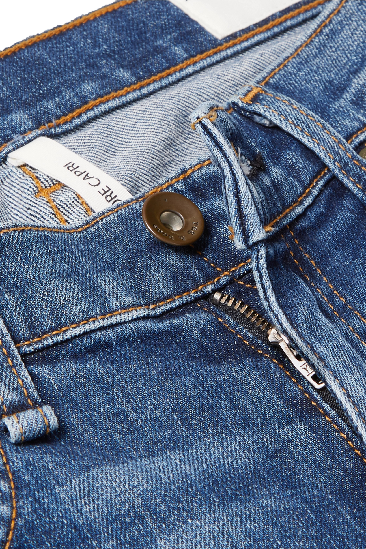 rag & bone Jean slim raccourci taille mi-haute effet vieilli Dre Capri