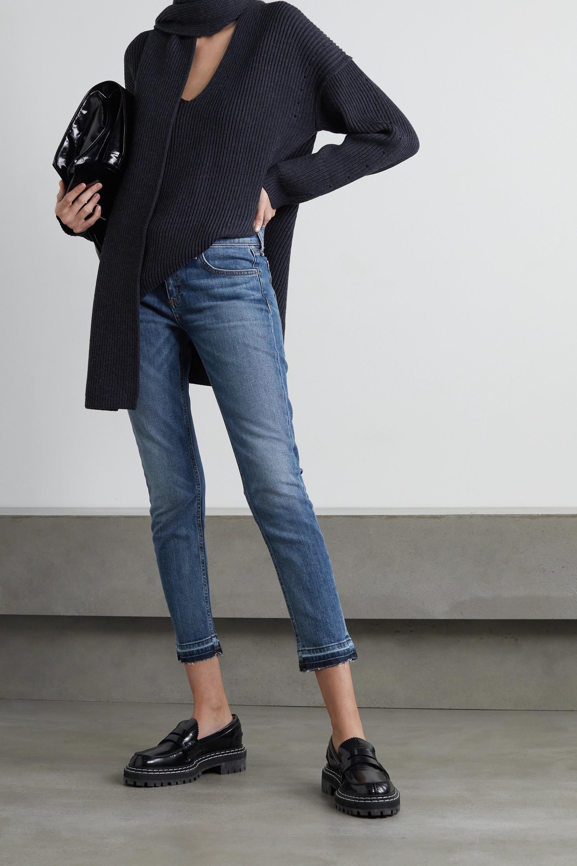 rag & bone Dre Capri cropped distressed mid-rise slim-leg jeans