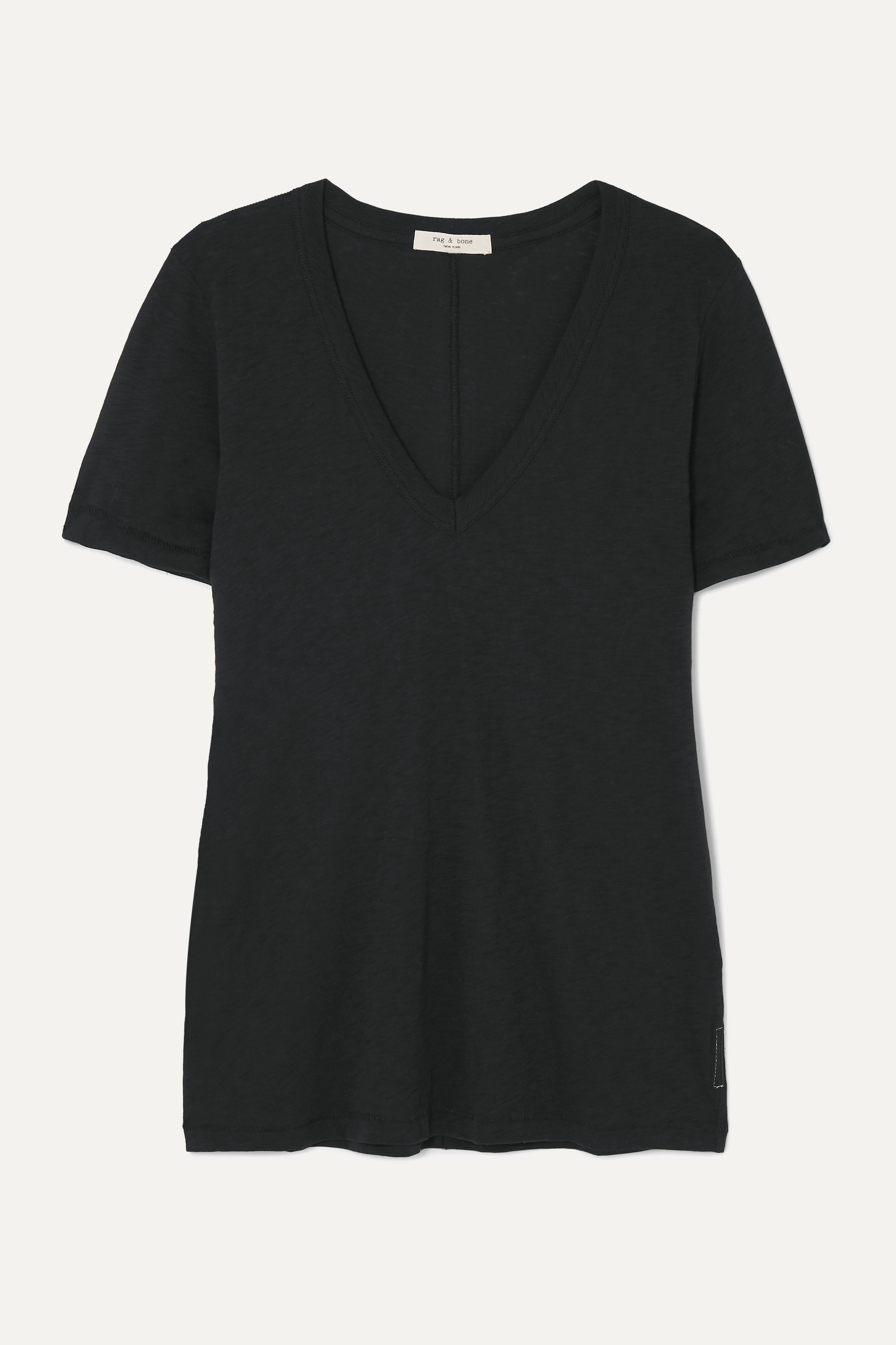 rag & bone T-shirt en jersey de coton Pima flammé The Vee