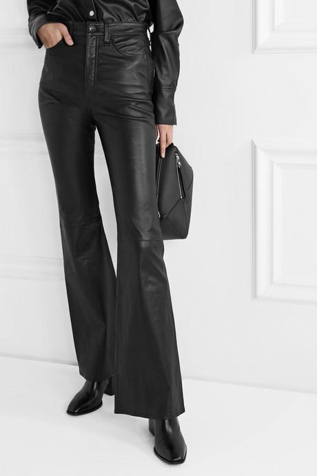 Jane Super leather flared pants