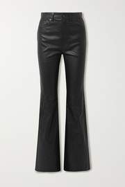 Jane Super leather flared pants