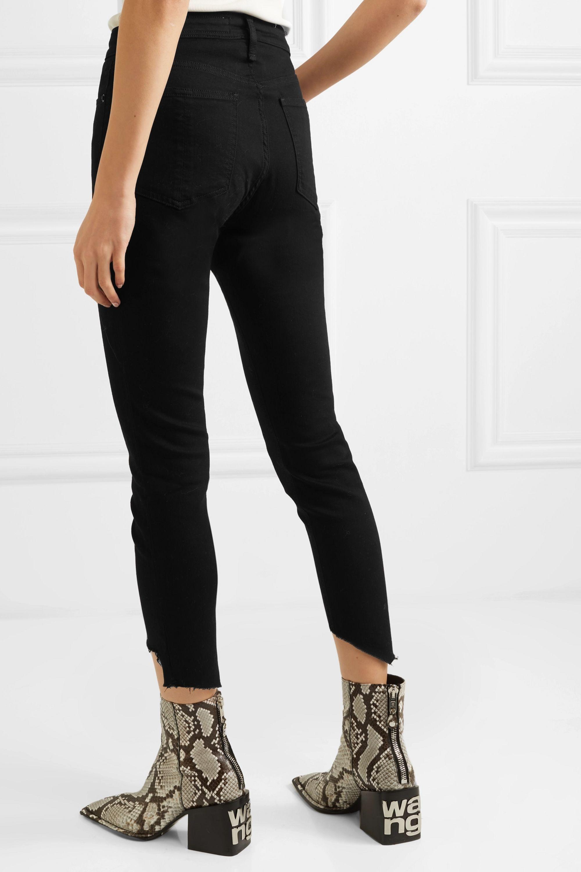 rag & bone Nina cropped distressed high-rise skinny jeans