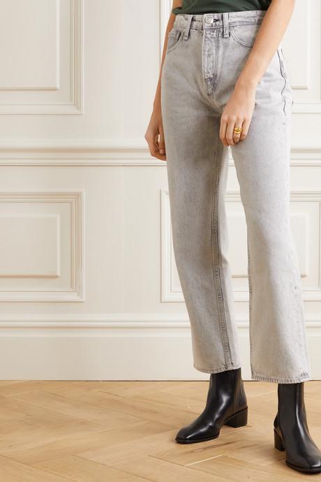Maya high-rise straight-leg jeans