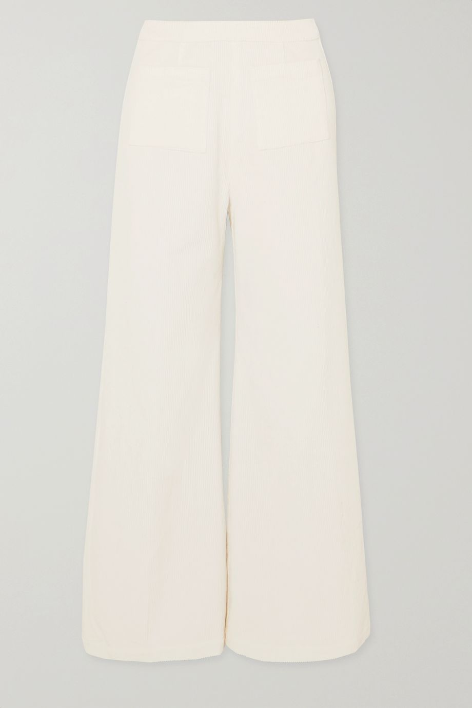 Faithfull The Brand Tove cropped cotton-corduroy wide-leg pants