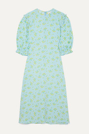 Faithfull The Brand Jean-Marie ruffle-trimmed floral-print crepe midi dress