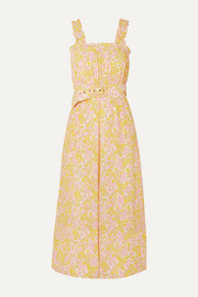 Faithfull The Brand Dolores belted floral-print crepe jumpsuit