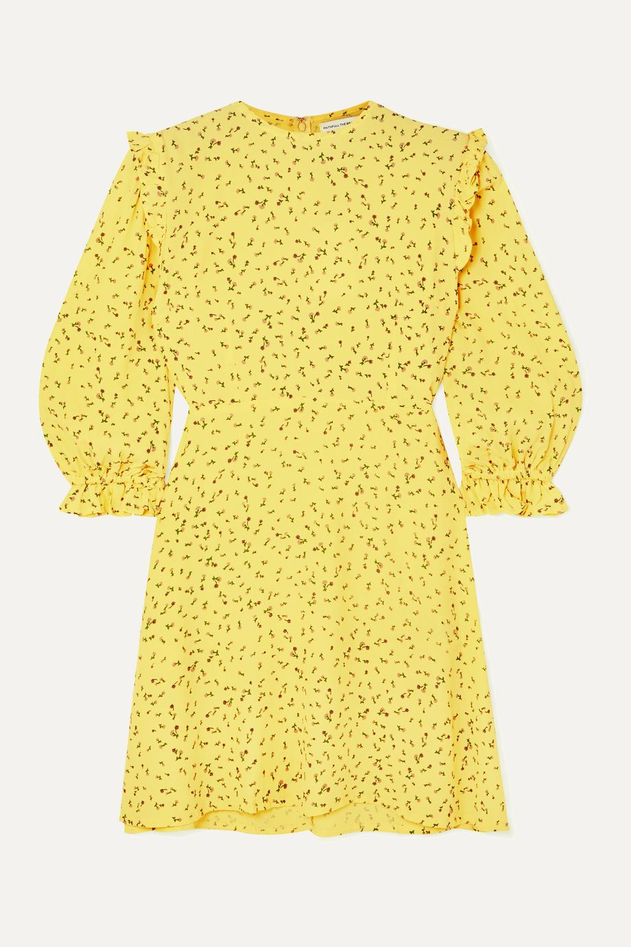 Faithfull The Brand Edwina ruffled floral-print crepe mini dress