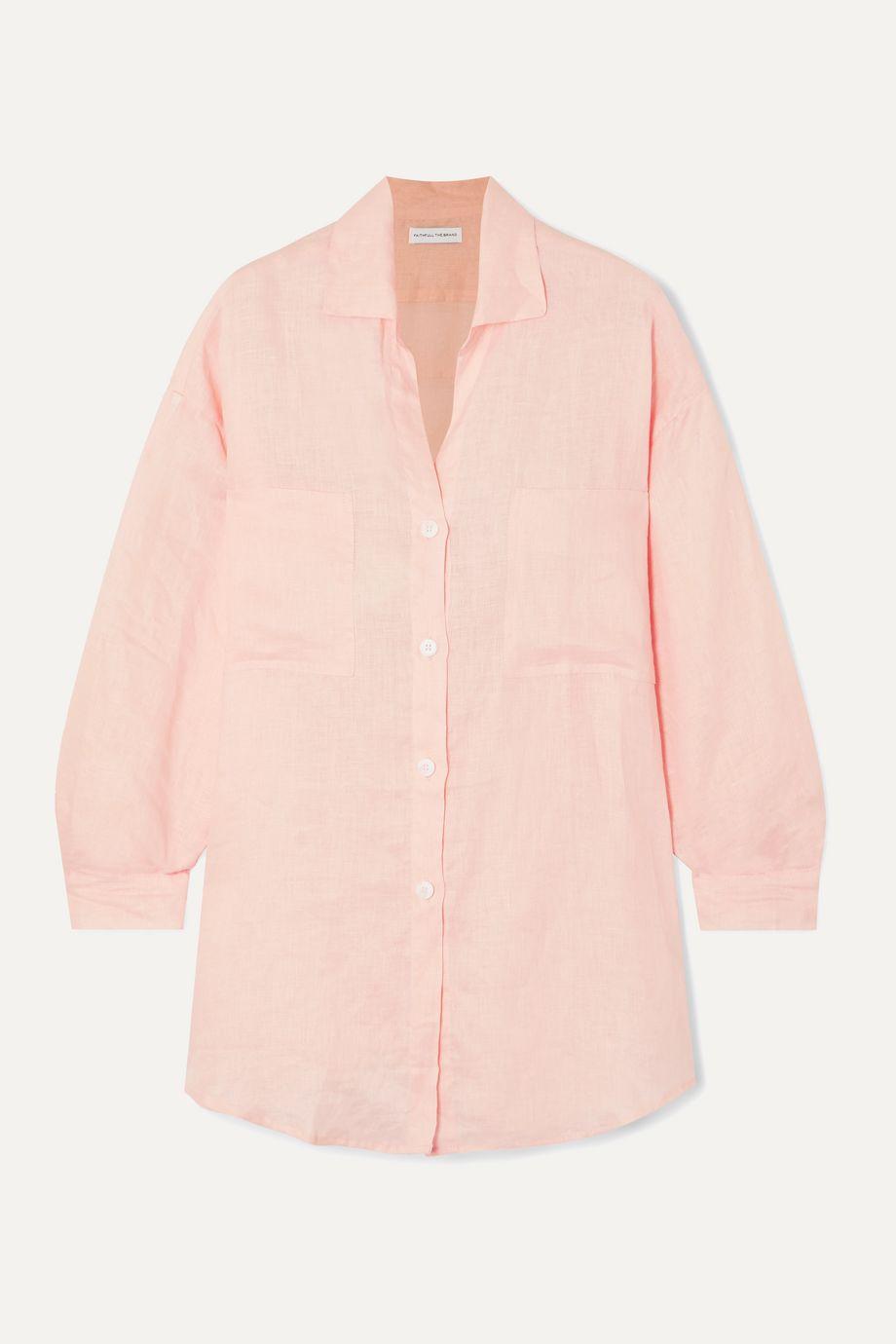 Faithfull The Brand Marbella cotton-gauze shirt