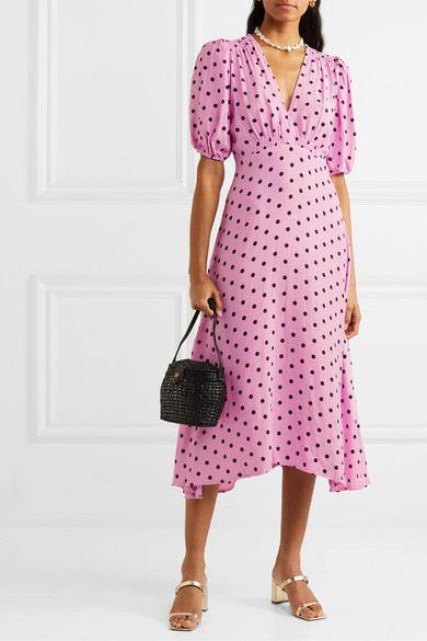 Faithfull The Brand | Vittoria polka dot crepe midi dress