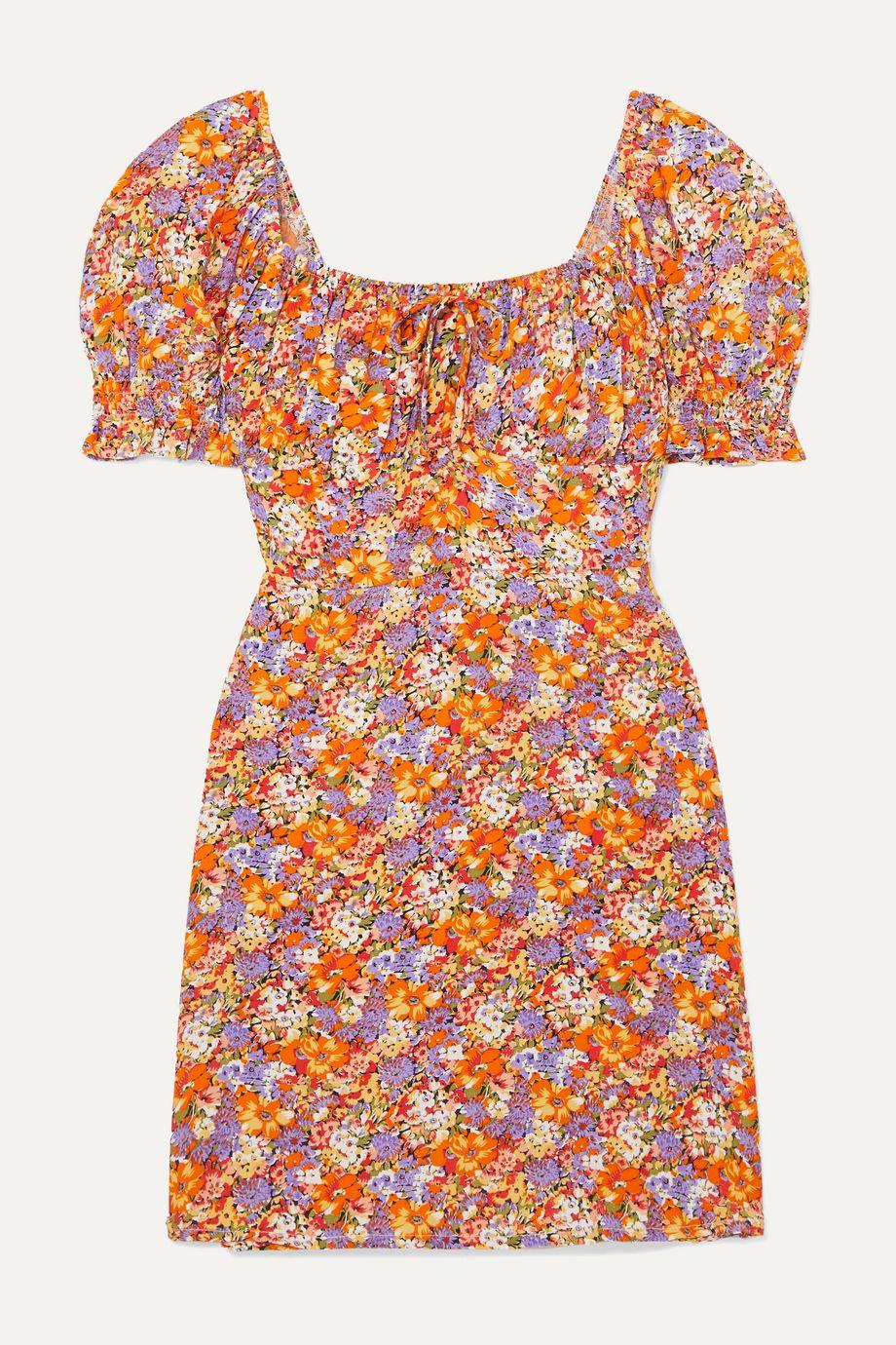 Faithfull The Brand Iris floral-print crepe mini dress